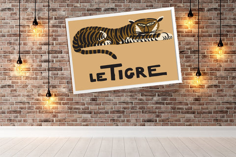 Le Tigre ? Tigre Children's Room Poster