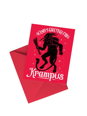 Load image into Gallery viewer, Krampus Christmas Holiday 5x7 Greetings Card
