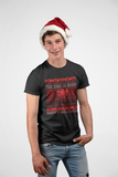 Cthulhu Ugly Sweater Christmas Holiday Men's T-Shirt