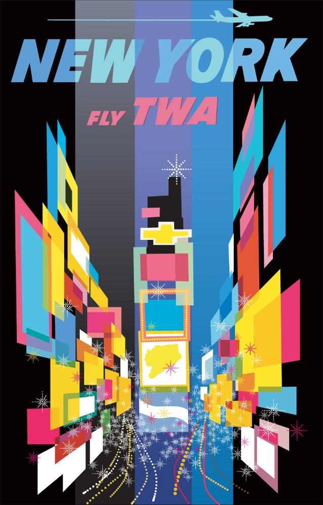 Load image into Gallery viewer, New York TWA David Klein Reproduction Poster/Print/Giclee