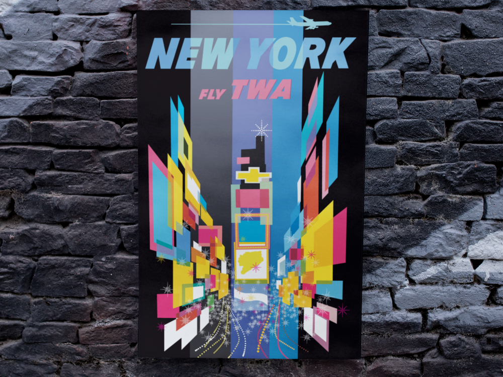 New York TWA David Klein Reproduction Poster/Print/Giclee