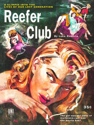 Reefer Club Pulp Novel Cover Reproduction Poster
