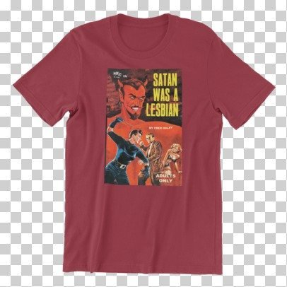Satan was a Lesbian Pulp Novel Cover Vintage Art Reproduction Unisex T-Shirt