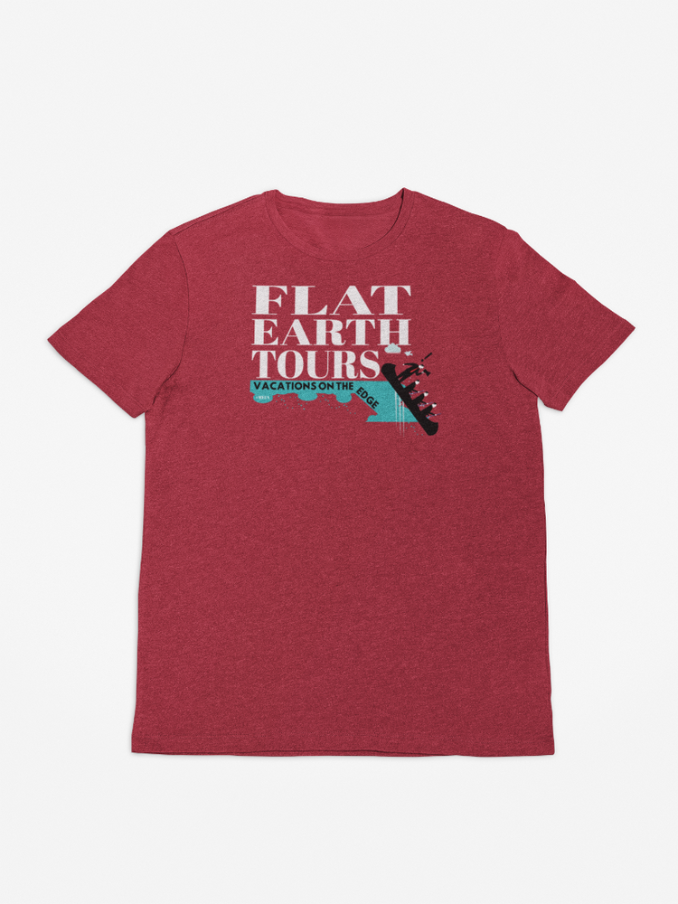 Flat Earth Tours Make Earth Flat Again T-Shirt