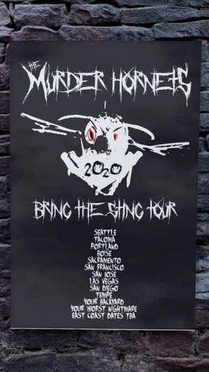 Load image into Gallery viewer, Murder Hornets US Tour Poster
