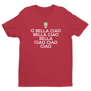 Load image into Gallery viewer, Bella Ciao Song Casa Papel Money Heist Dali Mask Men's/Unisex T-Shirt