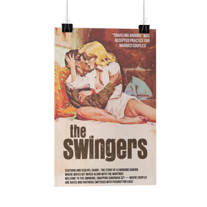 The Swingers Pulp Novel Hotwife Poster/Card Reproduction