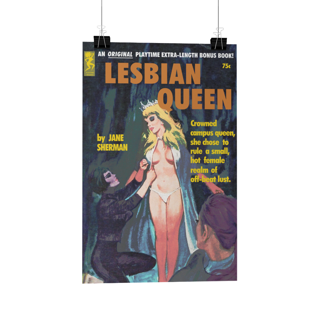 Load image into Gallery viewer, Lesbian Queen Pulp Novel Poster Print Card