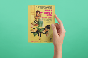 Girls Without Men Pulp Novel Cover Reproduction Lesbian Love Poster/Card