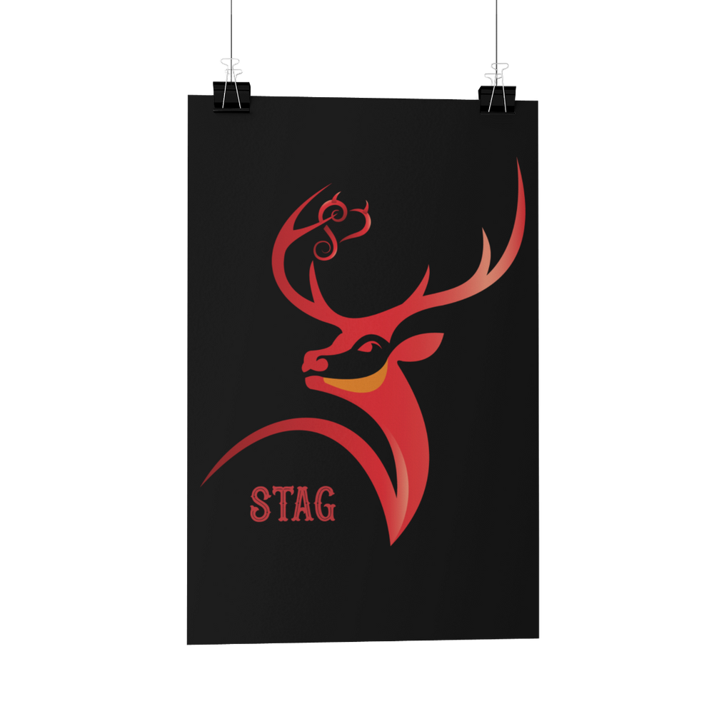 Stag Poster/Print/Greeting Card hotwife vixen stag