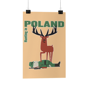 Hunting In Poland Travel Tourism Polish Poster Wiktor Gorka Reproduction Poster/Print/Greeting Card