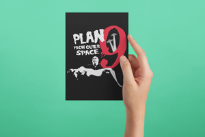 Plan 9 Inspector Clay Poster/Print/Greeting Card - Ed Wood Tribute