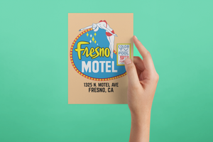 Fresno Motel Poster/Print/Greeting Car Diving Lady