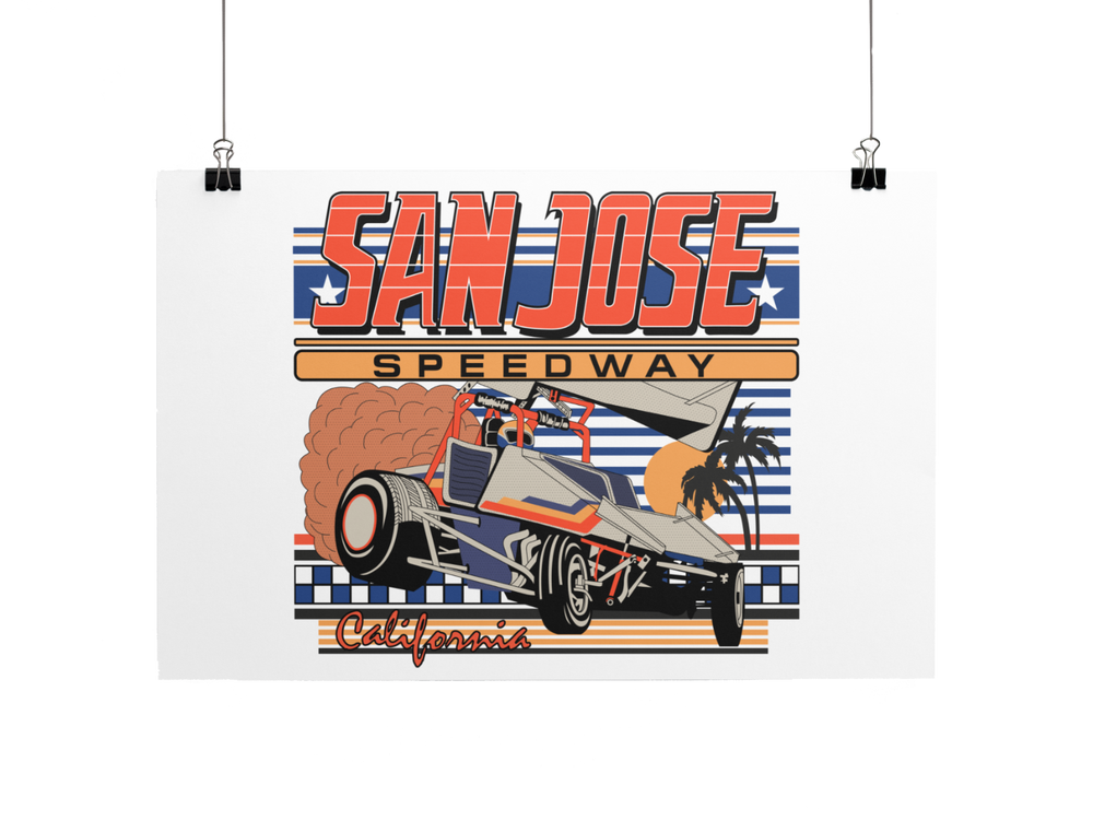 Load image into Gallery viewer, San Jose Speedway Poster/Print/Greeting Card