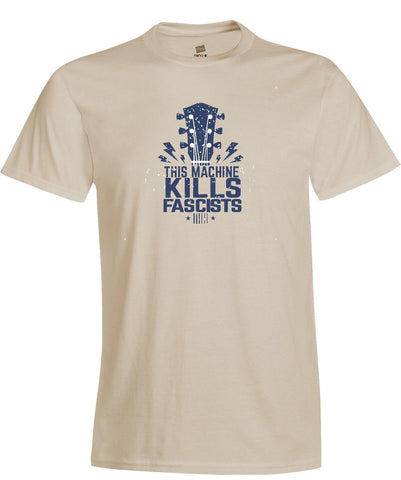 This Machine Kills Fascists Woody Guthrie Quote T-Shirt Folk Music Political