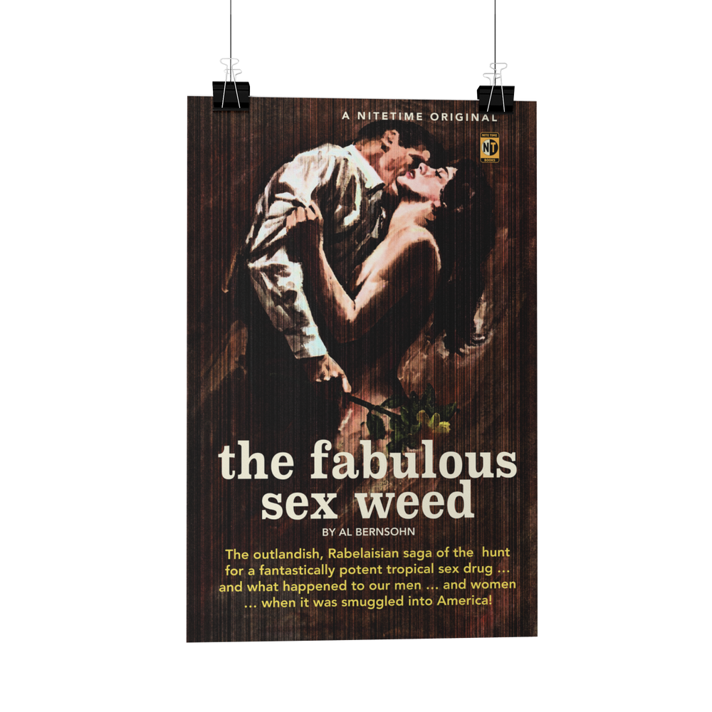 Sex Weed Pulp Novel Cover Poster/Greeting Card reproduction