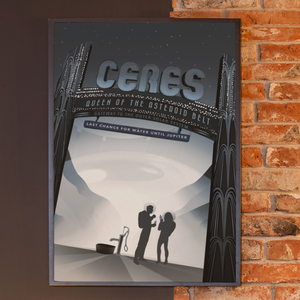 Load image into Gallery viewer, NASA Visions of the Future - CERES Solar System Travel Posters/print/cards