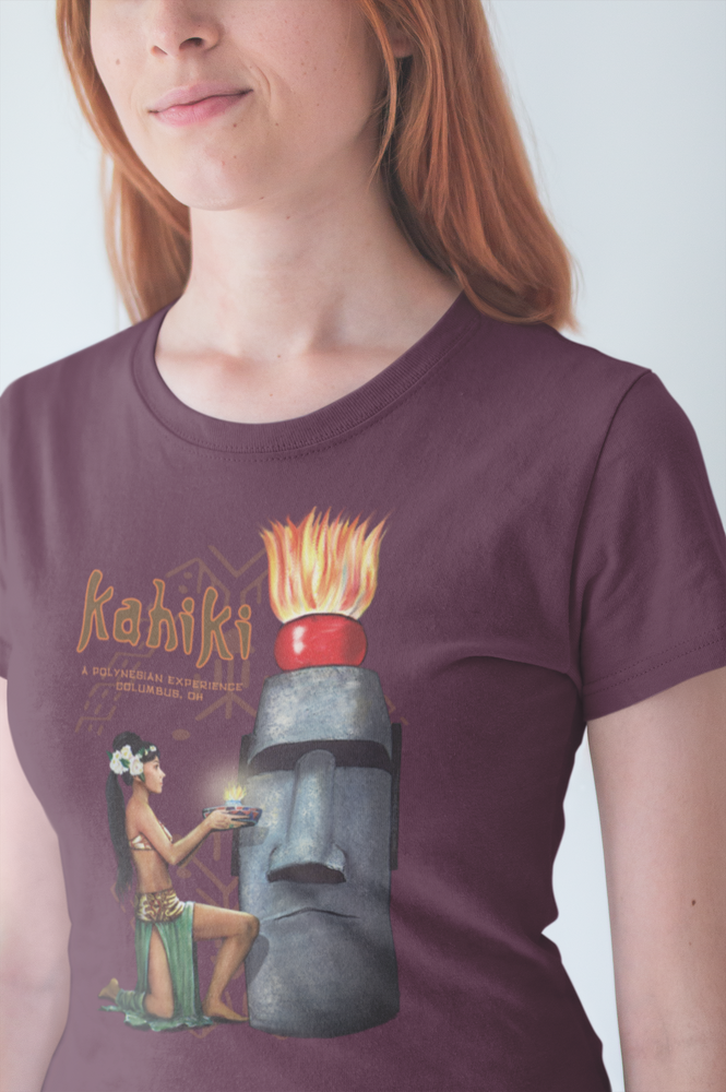 Load image into Gallery viewer, Kahiki Tiki Bar Mystery Girl Columbus Oh Tribute Women's Shirt #2