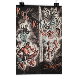 Load image into Gallery viewer, KAHIKI Tiki Bar Cocktail Menu Cover Poster/Greeting Card