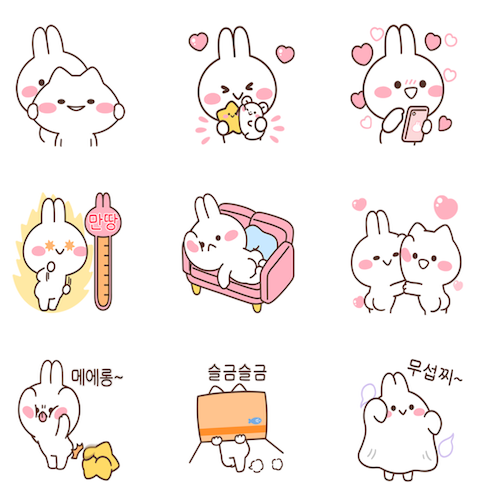 【News】New MiMiNeKo stickers on  KAKAO!