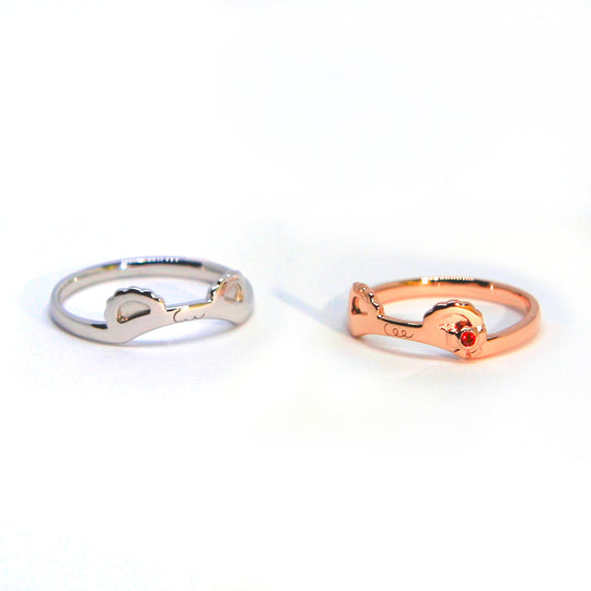 Sugar Couple Closed Ring ~Silver~