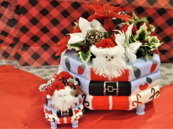 Custom Christmas Santa Centerpieces