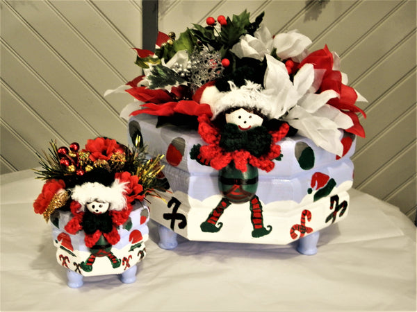 Custom Christmas Elf Centerpieces