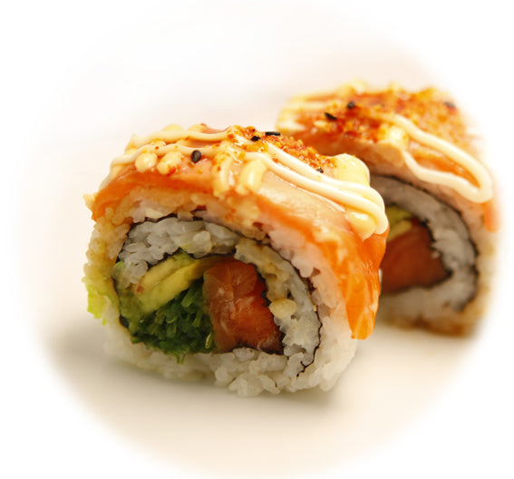 Salmon+seaweed+avo Dragon Roll