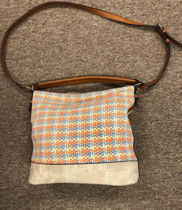 Claribel basket-weave purse