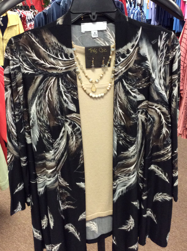 Tia feathered jacket