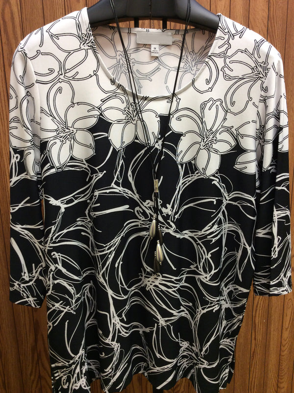 Dallas tropical reverse print top