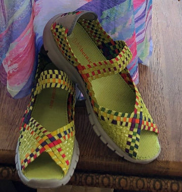 Claudia basket-weave slip-on