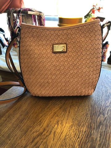 Bonita basket-weave purse
