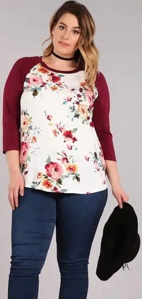 Becky floral top
