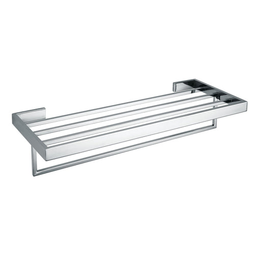 Aquamoon A34 Bathroom Towel Rack 24-Inch Wall Mounted Chrome Finished