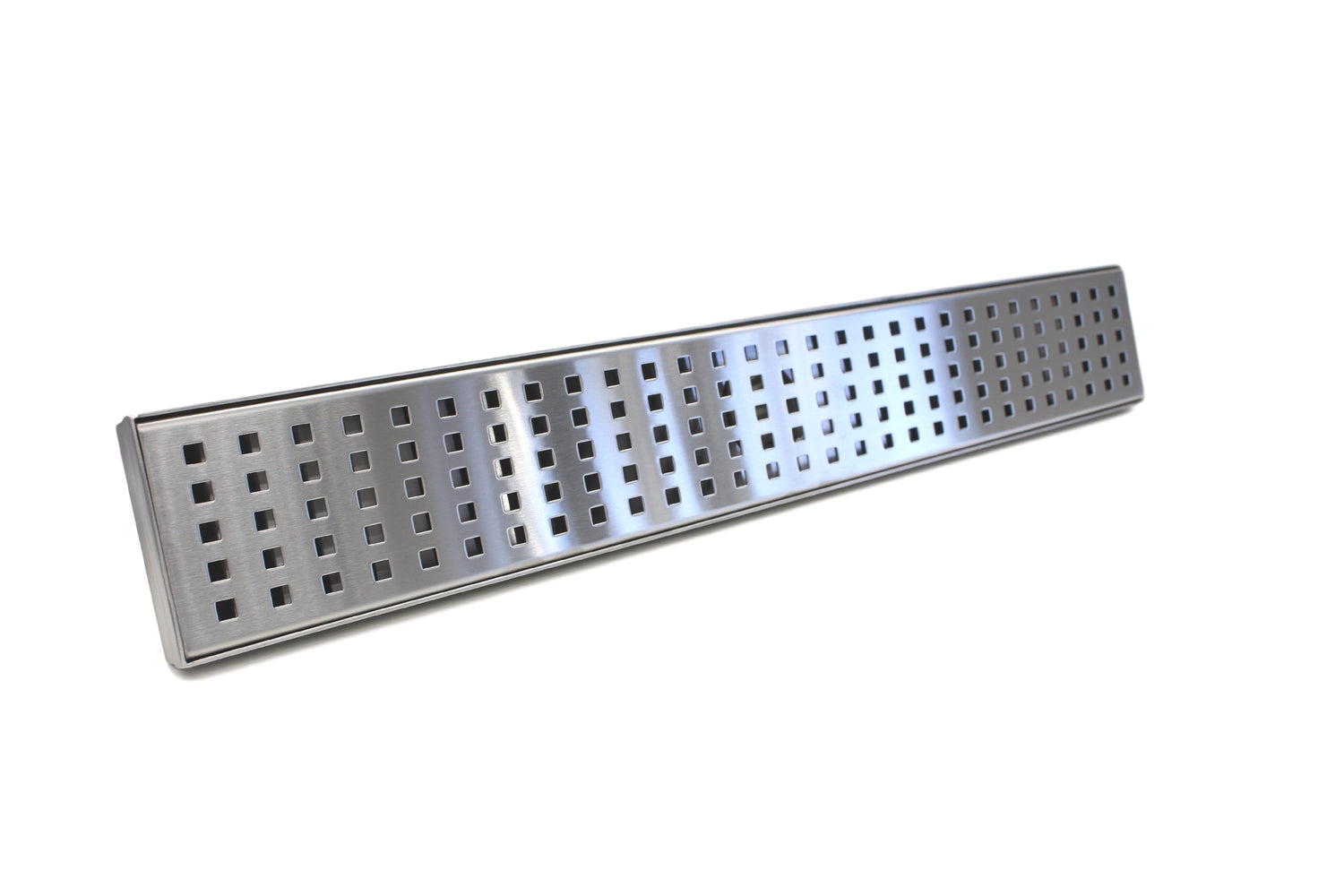 Aquamoon  Chrome Insert 24-Inch  Linear Shower Drain, 316 Stainless Steel Rectangle With Hair Strainer