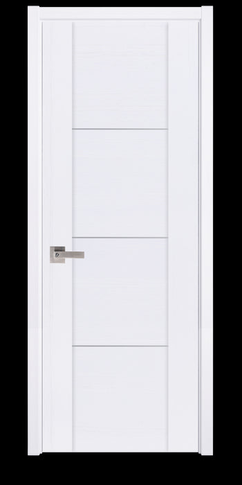 Contemporary Surface White  Interior Door Slab  Solid Core Stripes Modern Door, White Pack 36 X 80 X 1 9/16)