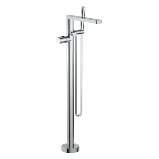 Aquamoon Barcelona Chrome Freestanding Bathtub Faucet Tub Filler Floor Mount Single Handle With Hand Shower