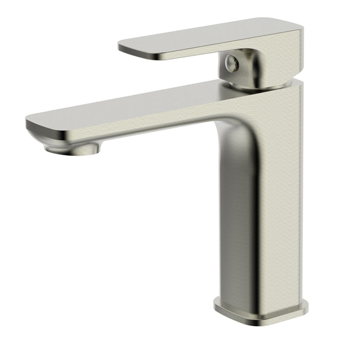 Aquamoon Arkon  Single Hole Mount Bathroom Vanity Faucet Brushed Nickel  Finished