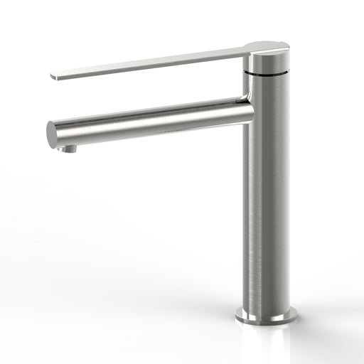 Aquamoon Bali Single Hole Vessel Bathroom Vanity Faucet Brushed Nickel  Finished