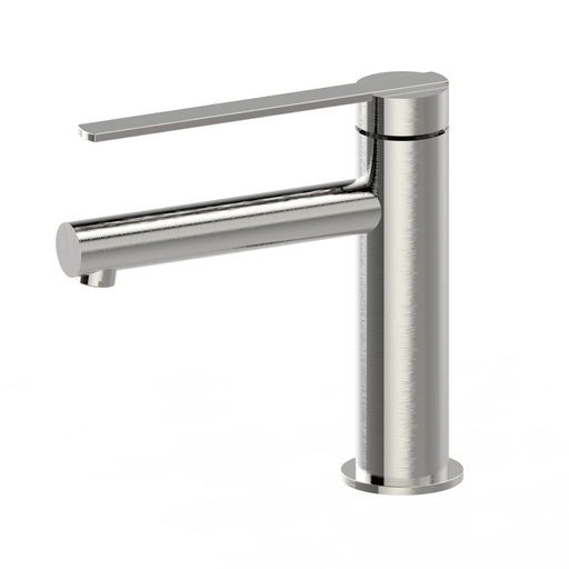 Aquamoon Bali Single Hole Mount Bathroom Vanity Faucet Brushed Nickel  Finished