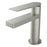 Aquamoon Havana Single Hole Mount Bathroom Vanity Faucet Brushed Nickel