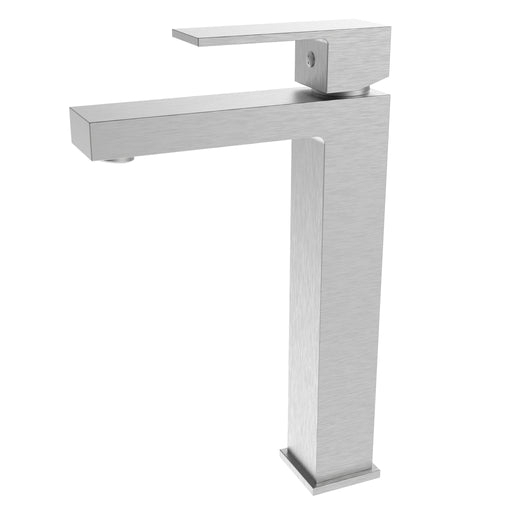 Aquamoon Milan Single Hole Vessel Bathroom Vanity Faucet Brushed Nickel   Finished