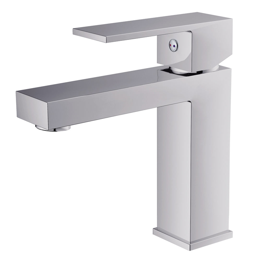 Aquamoon Milan Single Hole Mount Bathroom Vanity Faucet Chrome Finish