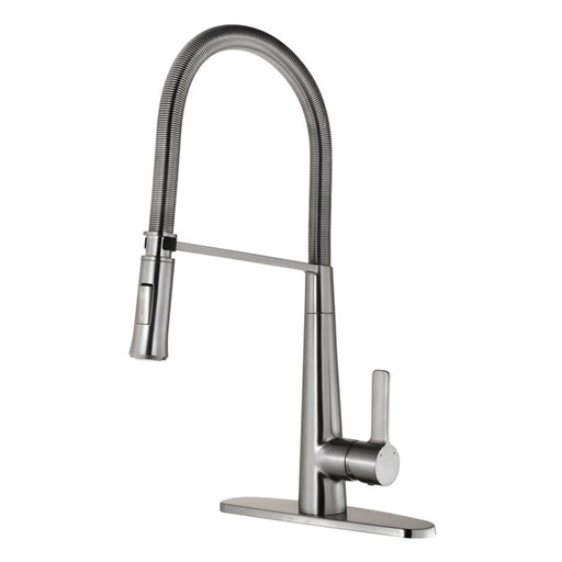 Aquamoon Cronos Single-Handle Kitchen Sink Faucet, Brushed Nickel Finished