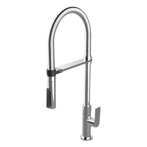Aquamoon Havana Single-Handle Kitchen Sink Faucet, Brushed Nickel Finished