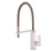 Aquamoon Milan Single-Handle Kitchen Sink Faucet, Brushed Nickel Finished
