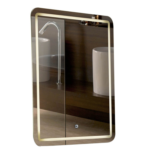 "Aquamoon 198901 Led Bathroom Mirror 24"" X 31"" Wall Mounted Side Switch 6000K High Lumen"