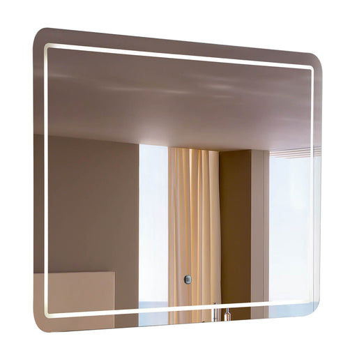 "Aquamoon 198901 Led Bathroom Mirror 31"" X 27.5"" Wall Mounted Side Switch 6000K High Lumen"