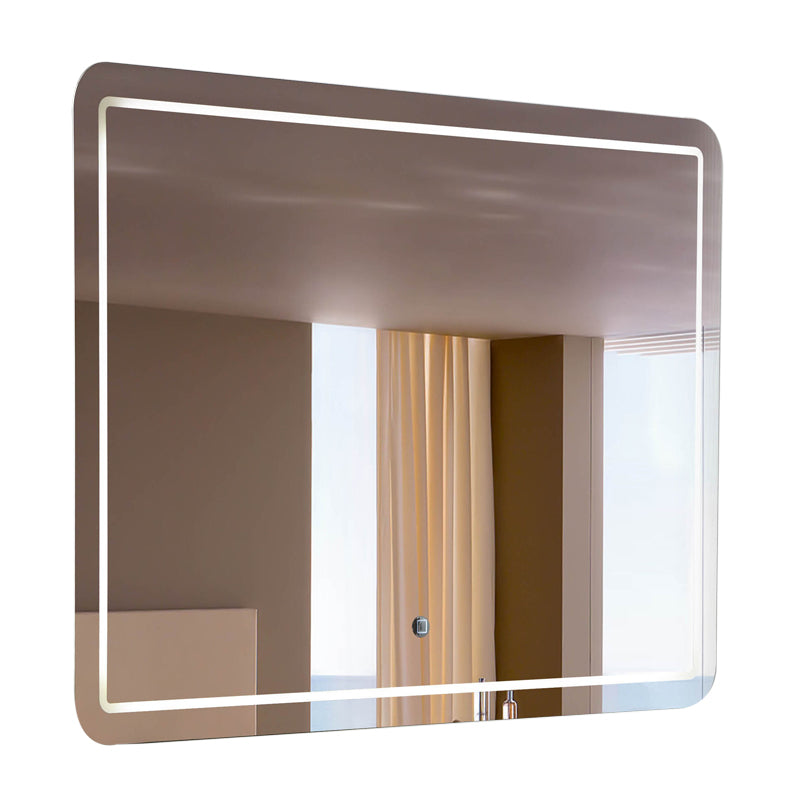 "Aquamoon 198901 Led Bathroom Mirror 48"" X 27.5"" Wall Mounted Side Switch 6000K High Lumen"